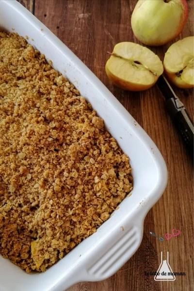 recette crumble avoine pommes