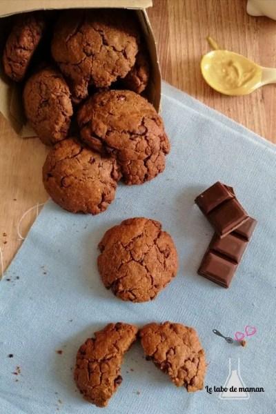 cookies cacahuètes et chocolat