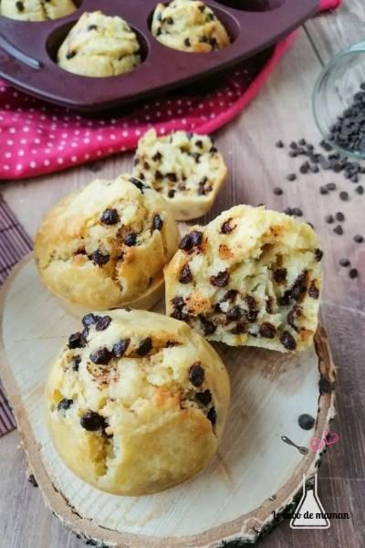 muffins moelleux aux pépites chocolat
