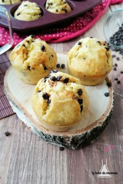 muffins moelleux pépites de chocolat