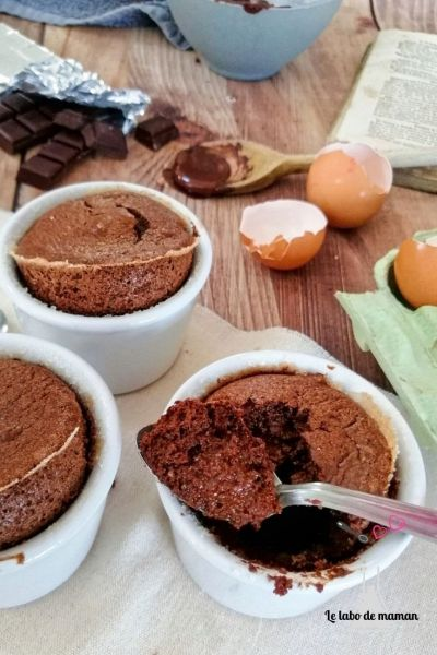 Soufflés au chocolat facile