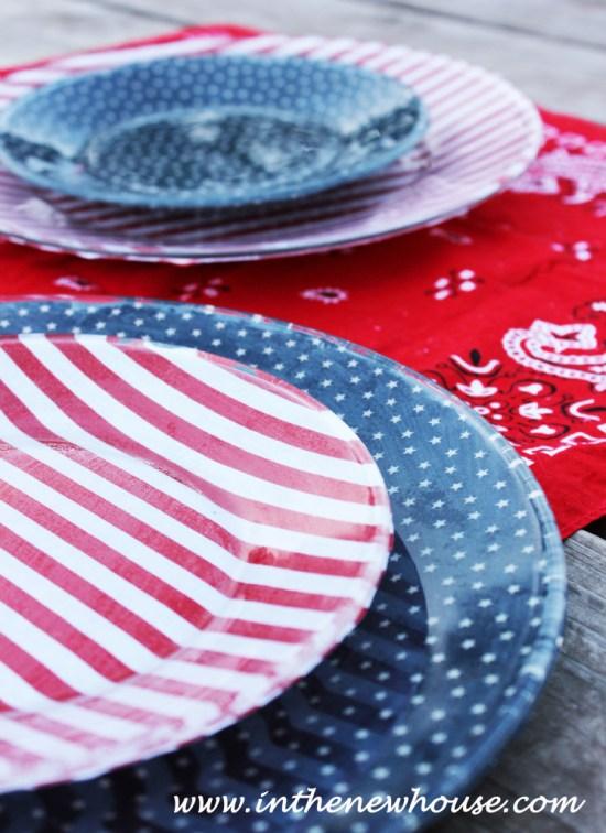 DIY Patriotic Plates