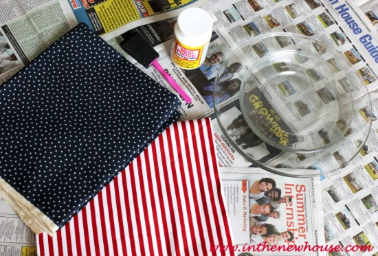 Materials for fabric lined plates