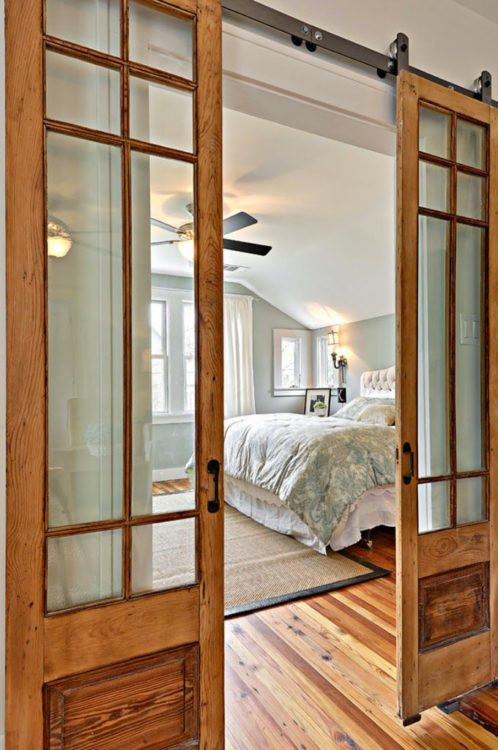 sliding barn doors to add character to a home