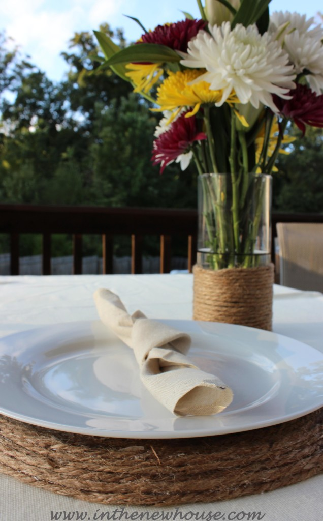 Jute Placemat and Vase Cover DIY