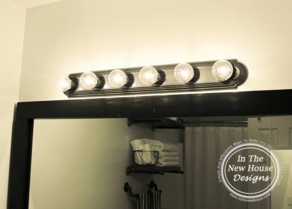 Industrial Farmhouse Bathroom Lighting Upcycle