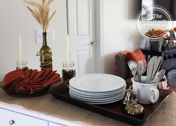 Use A Rolling Island For A Portable Fall Party Buffet