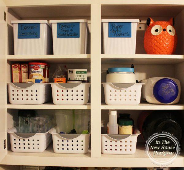 Organized baking cabinet
