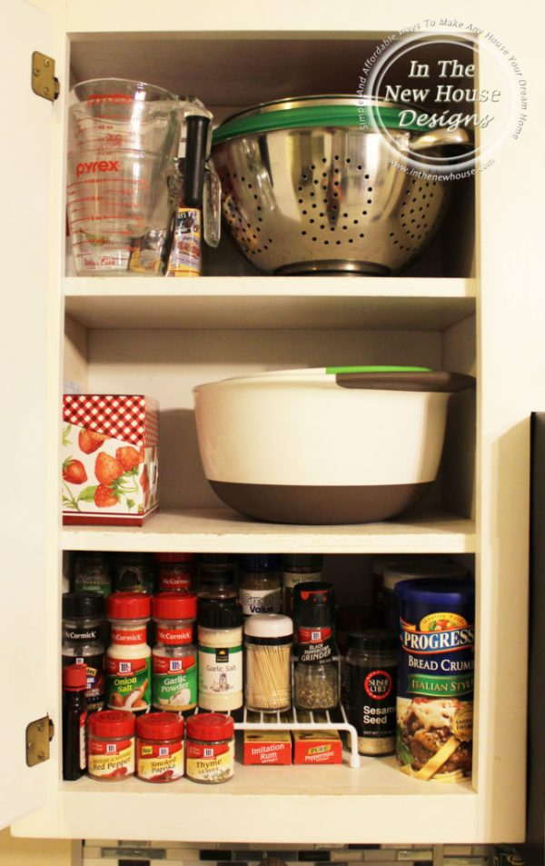 Organized kitchen baking cabinet