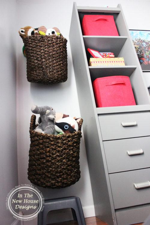 kids room organization and storage
