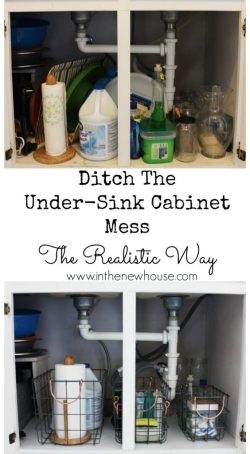 How To Organize Under The Kitchen Sink The Real Way Not The Pretty way