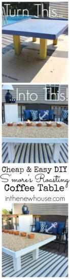 How to create an outdoor smores roasting table. No fire pit needed. Repin and check out the tutorial here.