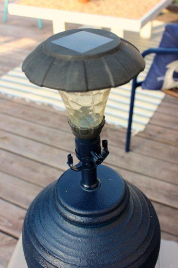 Solar Light In Old Lamp