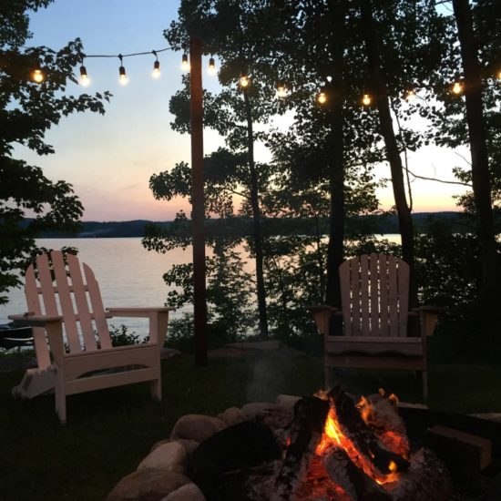 Lakehouse Firepit Outdoor Living Area