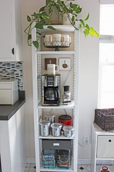 Coffee Bar Made With Ikea Ivar Shelving