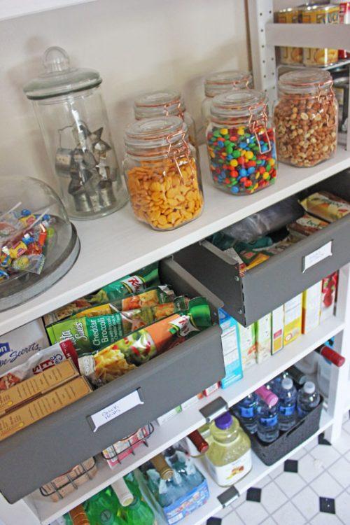 is an open shelving pantry a good idea?