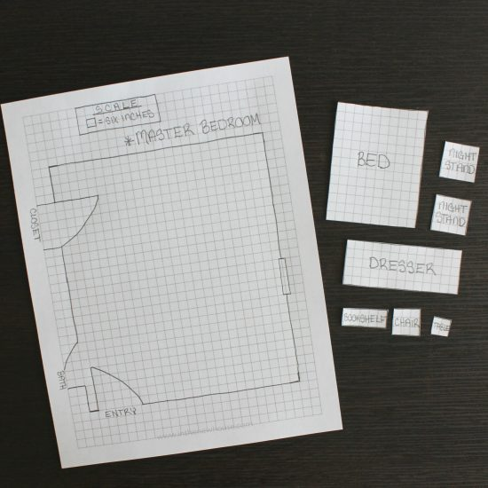 How to make a room layout to scale with graph paper