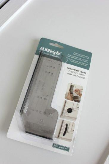 cabinet door hardware template