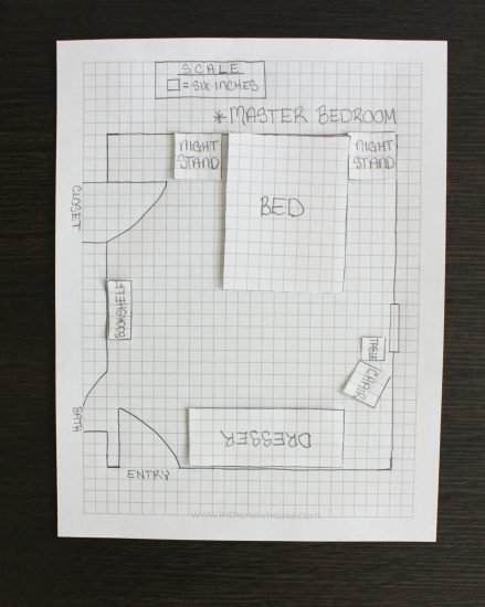 How to draw a room layout on graph paper