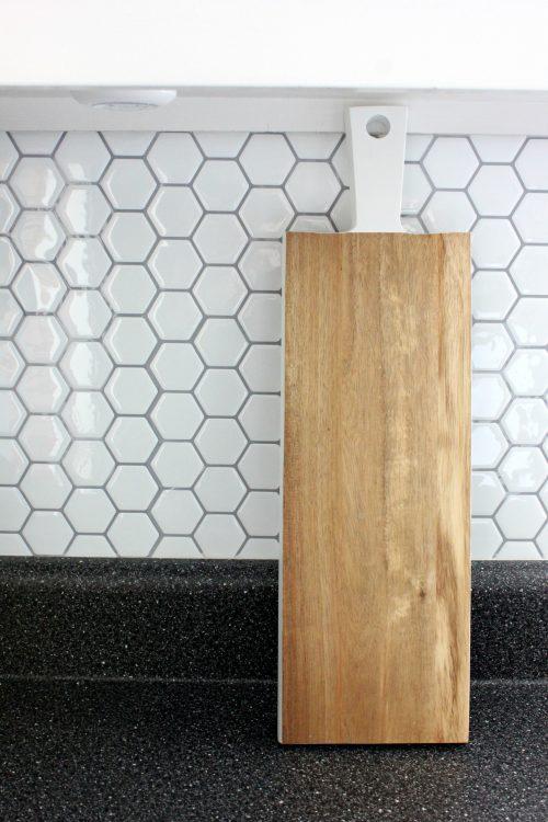 hexagon honeycomb white tile