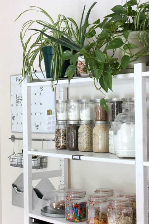 Open shelving pantry ikea hack