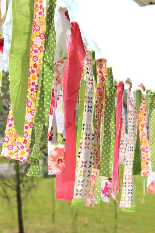 fabric garland made from leftover scraps