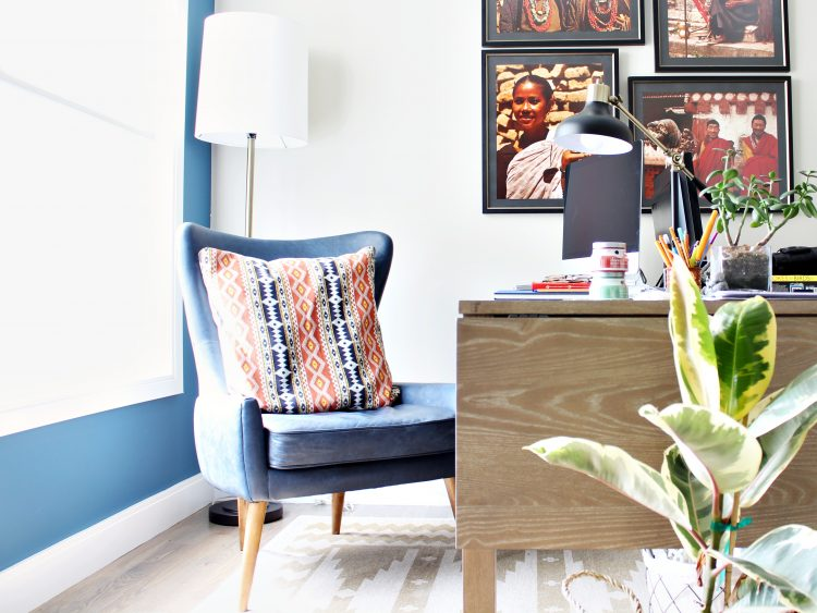 eclectic modern southwestern office