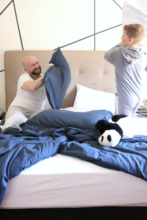 give kids a laugh with a surprise pillow fight