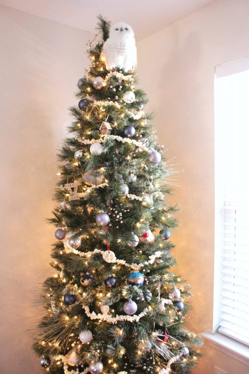 Christmas Tree with popcorn garland