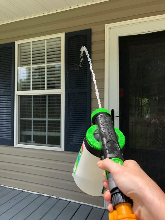 easy way to clean front porch