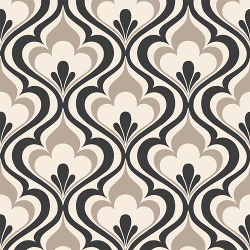 2535-20602 simple space 2 lola ogee bargello wallpaper black taupe