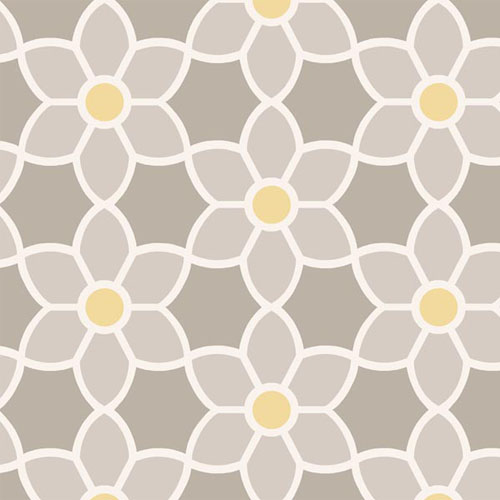 2535-20605 simple space 2 blossom geometric floral wallpaper gray yellow white