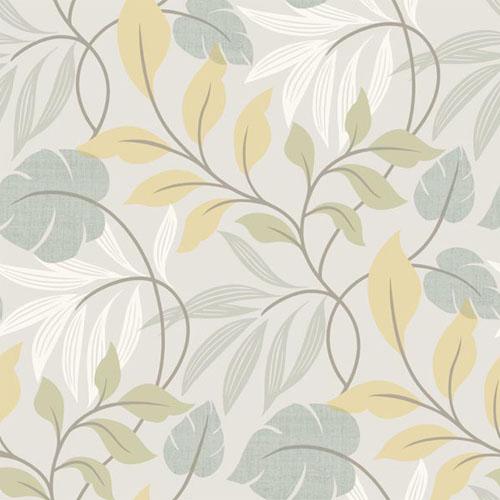 2535-20628 simple space 2 eden modern leaf wallpaper yellow gray green