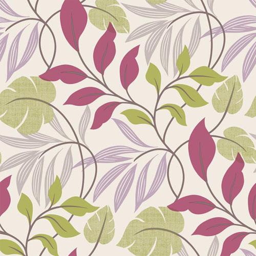 2535-20630 simple space 2 eden modern leaf wallpaper purple green