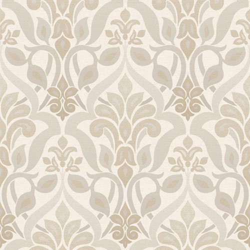 2535-20644 simple space 2 fusion ombre damask wallpaper beige gray tan