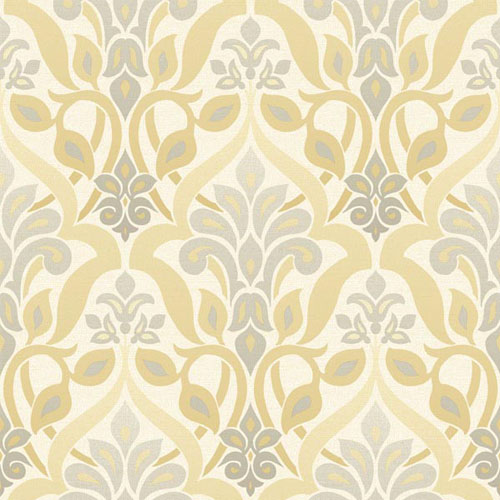 2535-20647 simple space 2 fusion ombre damask wallpaper yellow gray beige