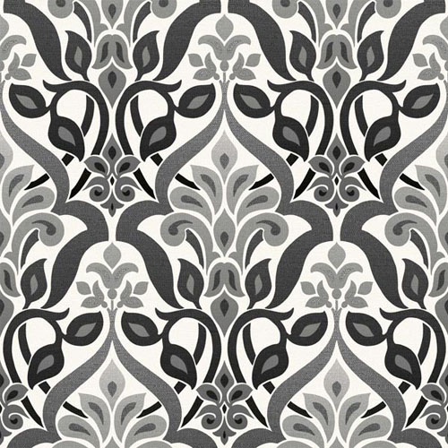 2535-20648 simple space 2 fusion ombre damask wallpaper black gray white