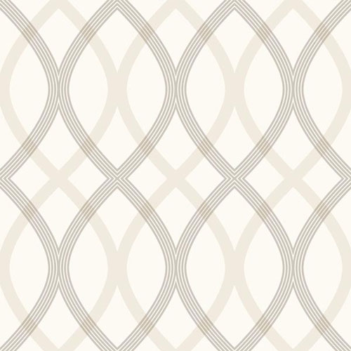 2535-20667 simple space 2 contour lattice wallpaper taupe gray off white