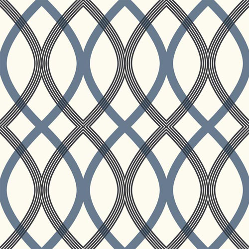2535-20670 simple space 2 contour lattice wallpaper blue black off white