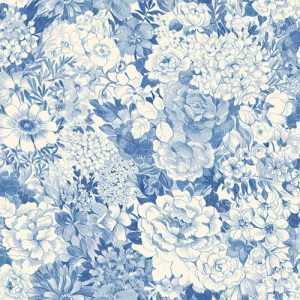 2686-21715 kitchen bed bath 4 dodge floral wallpaper blue