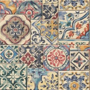 2701-22301 reclaimed marrakesh mosaic tile wallpaper color multi