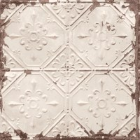 Distressed Tin Tiles Wallpaper - Lelands Wallpaper