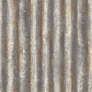 2701-22333 reclaimed corrugated metal wallpaper charcoal