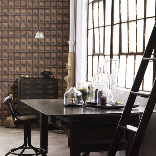 2701-22353 reclaimed vintage po boxes wallpaper roomset