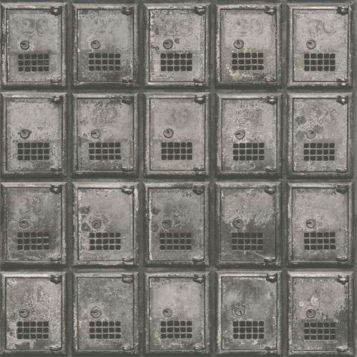 2701-22355 reclaimed vintage po boxes wallpaper charcoal