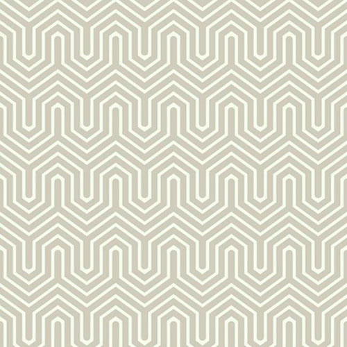 GE3713 ashford geometrics labyrinth flocked wallpaper silver