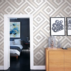 geometric seabrook marble graphic squares wallpaper roomset