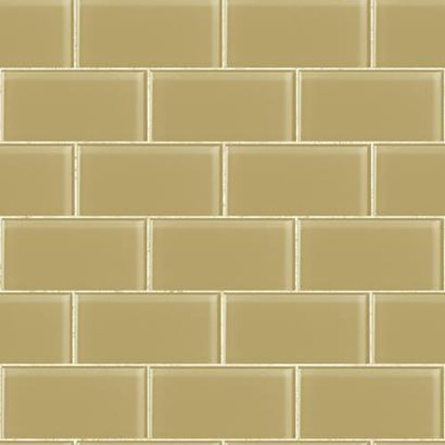 RK4466 urban chic grand central subway tile wallpaper gold