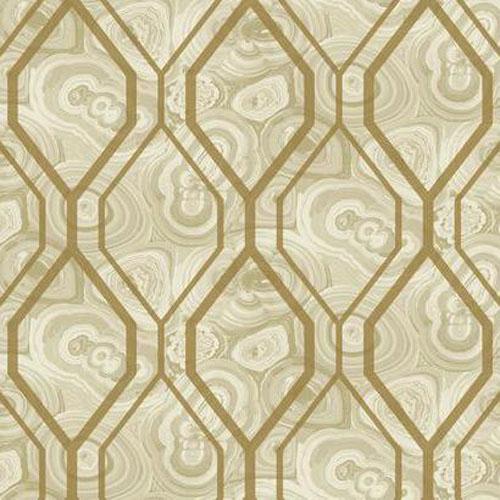 RK4497 urban chic malachite trellis wallpaper beige
