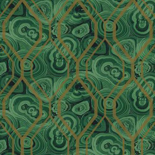 RK4498 urban chic malachite trellis wallpaper green